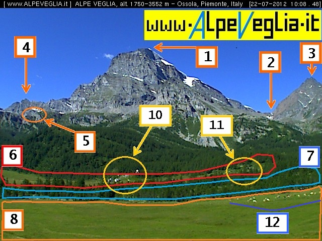 Webcam Alpe Veglia Ossola: Live Web Camera area Passo Sempione in Alta Valle Ossola